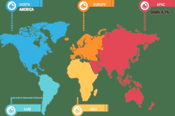 Global Hot Melt Glue Gun Market, by Region 2020